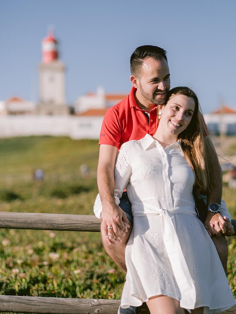 sessão pré casamento no cabo da roca