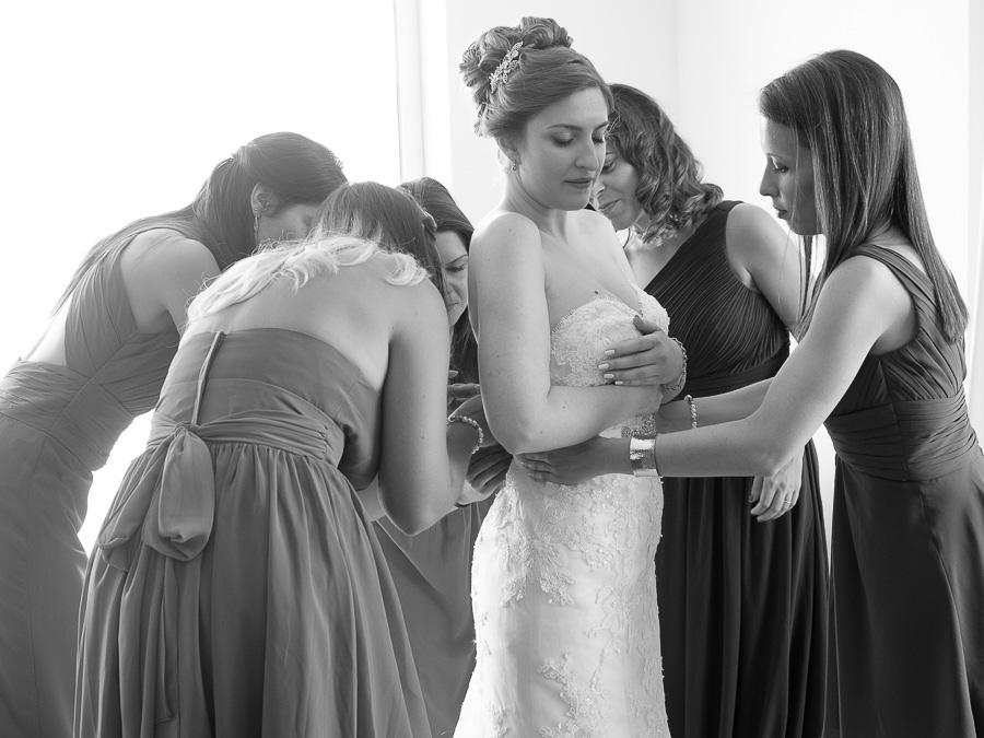 Fotografia de casamento em preto e branco